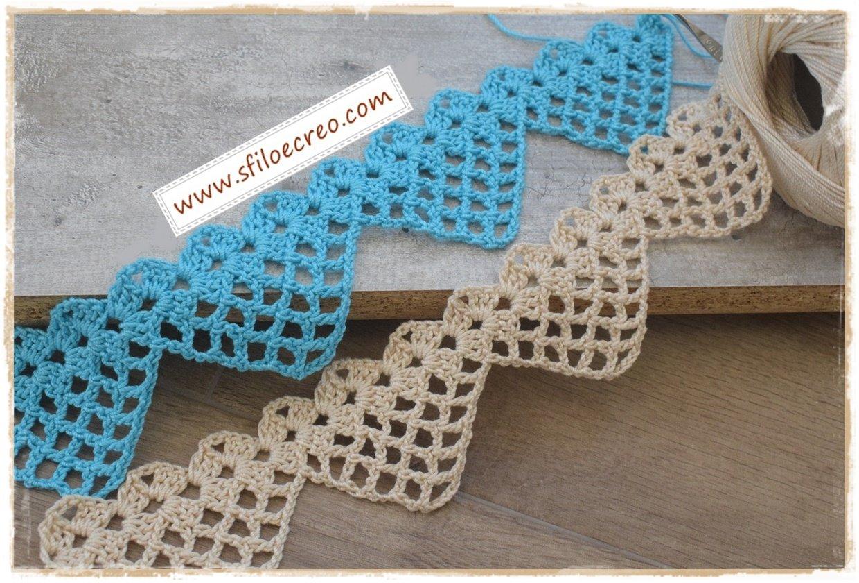 bordura con punte a rete