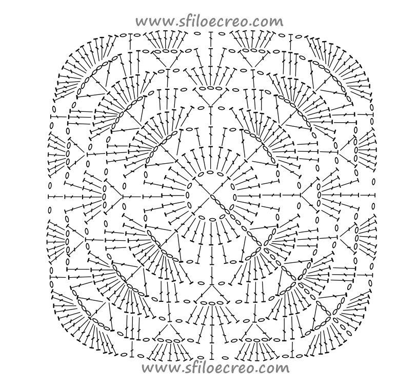 schema copertina quadrata con ventagli