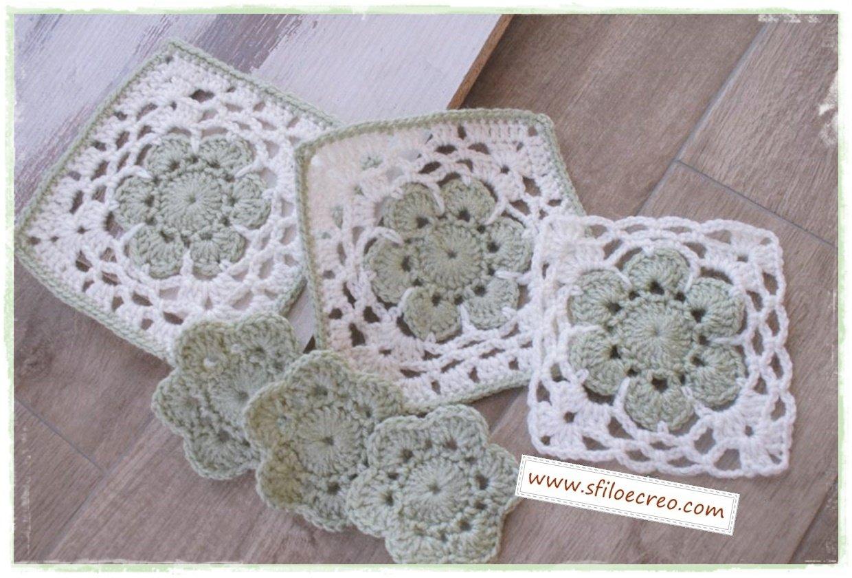 Piastrelle con fiore per copertine o sacchettini