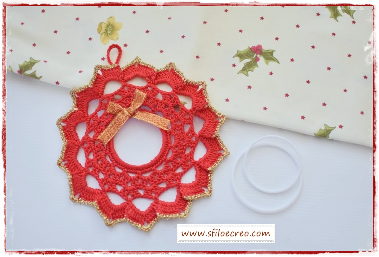 Read more about the article Come fare una ghirlanda natalizia a uncinetto