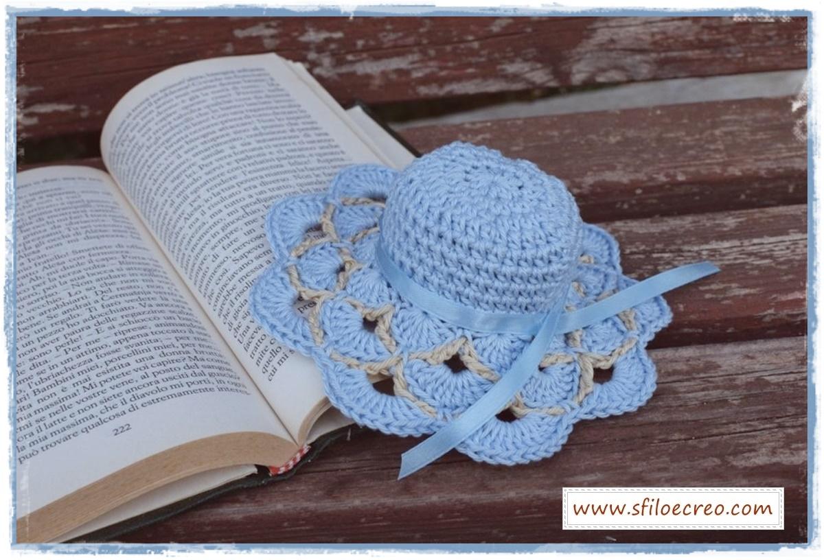 cappellino bomboniera con ventaglietti