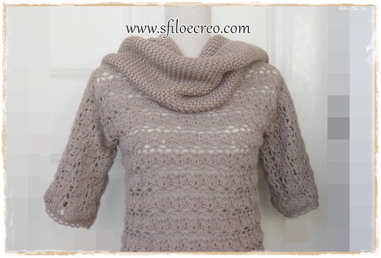 maglia Almond a uncinetto