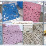 Piastrelle a uncinetto per copertine quadrate