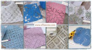 Read more about the article Piastrelle a uncinetto per copertine quadrate