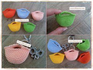 Mini borsette a uncinetto