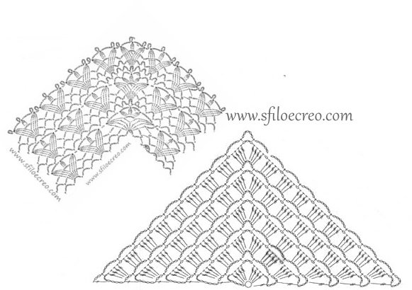 scialle Geometric a uncinetto
