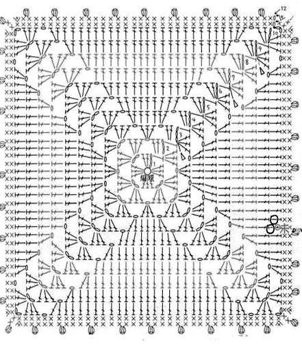 presine geometriche a uncinetto