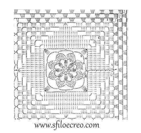 copertina quadrata con fiore