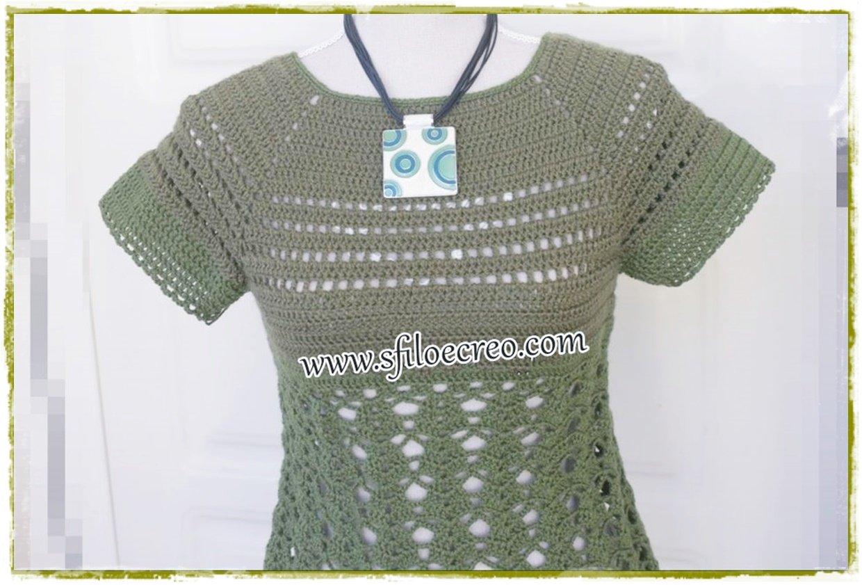 maglia green forest a uncinetto