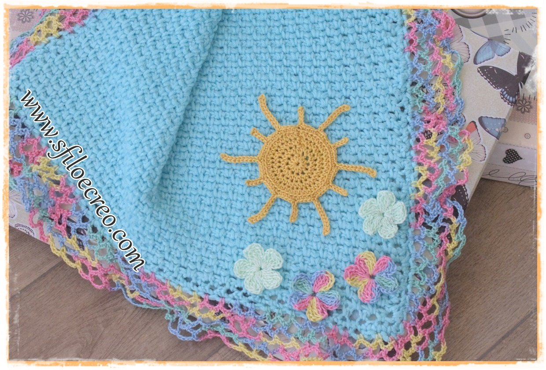 copertina Sole e Fiori a uncinetto
